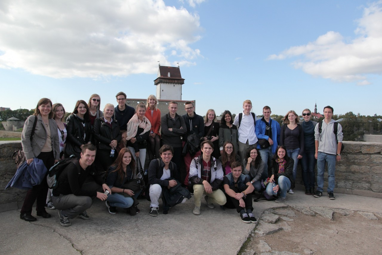 The group visiting Ivangorod